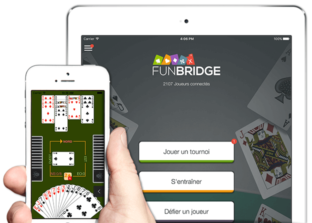 Jouer au bridge gratuitement sur iPhone, iPad et iPod Touch