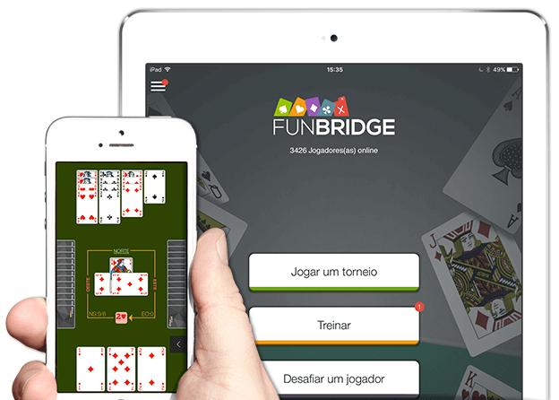 Jogar bridge gratuitamente num iPhone, iPad e iPod Touch