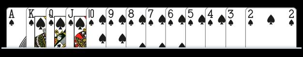 A K Q J 10 9 8 7 6 5 4 3 2