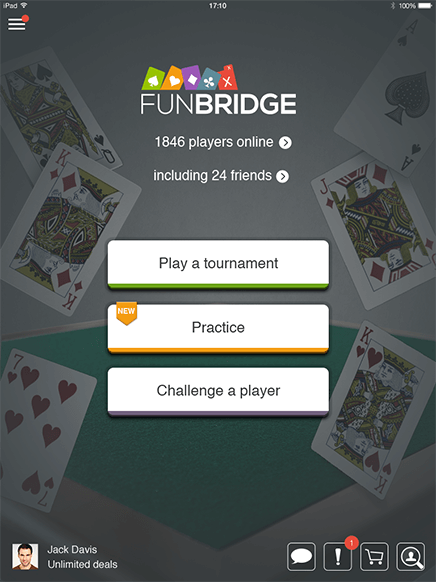 Download Funbridge, free bridge game